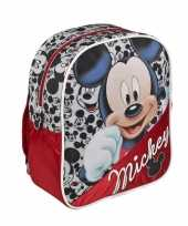 Rode disney mickey mouse rugtas kinderen